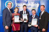 Dublin - Ireland, Tuesday 8th November 2016:<br /> Simon Coveney TD, Minister for Housing, Planning & Local Government with 'Seiko Just In Time Award' recipients Roisin Treanor, John Flannery, Martin Treanor and (Monaghan) and Martin O'Sullivan, Chairman of Irish Water Safety at the annual Irish Water Safety Awards held at Dublin Castle.  Photograph: David Branigan/Oceansport