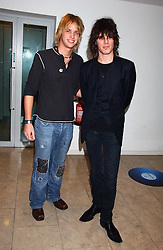 Left to right, SAM BRANSON and JACKSON SCOTT at a party hosted by O2 to announce their support for grassroots music through the launch of a nationwide music talent search 'O2 Undiscovered' held at The Hospital, Endell Street, London on 8th March 2006.<br /><br />NON EXCLUSIVE - WORLD RIGHTS