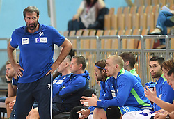 Veselin Vujovic of Slovenia during friendly handball match between Slovenia and Srbija, on October 27th, 2019 in Športna dvorana Lukna, Maribor, Slovenia. Photo by Milos Vujinovic / Sportida