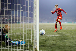 Josh Wright of Leyton Orient has his penalty saved by Jordi van Stappershoef of Bristol Rovers - Mandatory by-line: Robbie Stephenson/JMP - 04/12/2019 - FOOTBALL - Memorial Stadium - Bristol, England - Bristol Rovers v Leyton Orient - Leasing.com Trophy