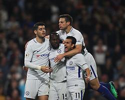 Victor Moses of Chelsea (C) celebrates scoring his sides second goal - Mandatory by-line: Jack Phillips/JMP - 19/04/2018 - FOOTBALL - Turf Moor - Burnley, England - Burnley v Chelsea - English Premier League