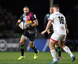 Ross Chisholm of Harlequins in possession - Mandatory byline: Patrick Khachfe/JMP - 07966 386802 - 13/12/2019 - RUGBY UNION - The Twickenham Stoop - London, England - Harlequins v Ulster Rugby - Heineken Champions Cup