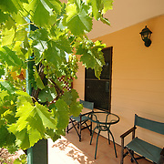 Patio of holiday house in Stanthorpe's wine country
