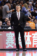 Feb 8, 2016; Phoenix, AZ, USA; Oklahoma City Thunder head coach Billy Donovan watches on from the sidelines in the game against the Phoenix Suns at Talking Stick Resort Arena. Mandatory Credit: Jennifer Stewart-USA TODAY Sports