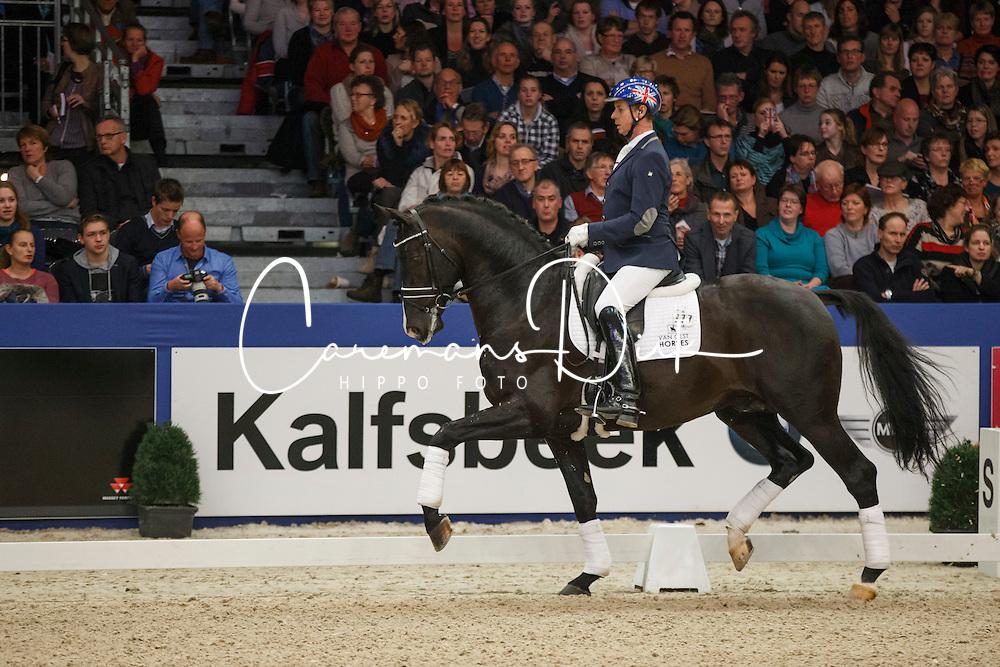 Hester Carl (GBR) - Everdale<br /> KWPN Stallion Selection - 's Hertogenbosch 2014<br /> © Dirk Caremans