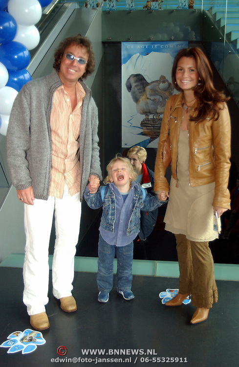 Premiere Ice Age Amsterdam, Marco Borsato, Leontien Ruiters en zoon Luca