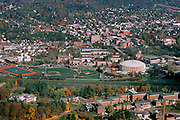 Aerial view of Ohio University and Athens. © Ohio University