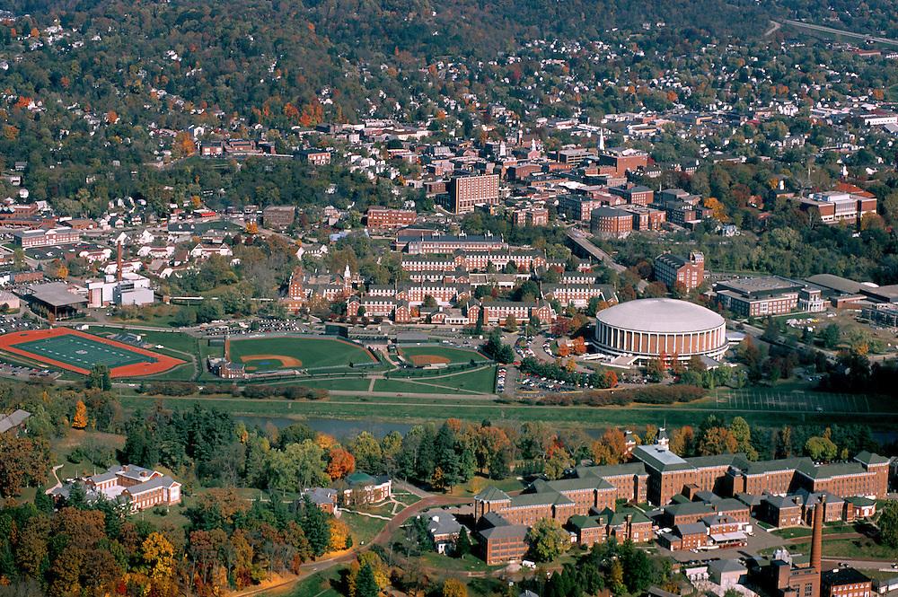 Aerial view of Ohio University and Athens. © Ohio University