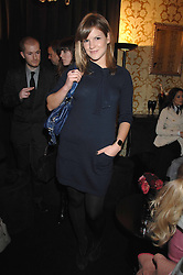 KATE SUMNER daughter of singer Sting in the Moet & Chandon Room at British Fashion Week at the Natural History Museum on 15th February 2007.<br />