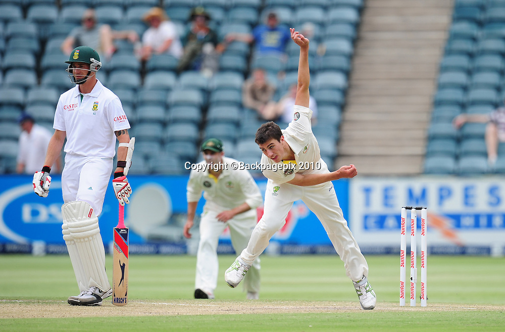 Pat Cummins of Australia, Cricket - 2011 Sunfoil Test Series - South Africa v Australia - Day 4 - Wanderers Stadium, Johannesburg. 20 November 2011<br /> &copy;Chris Ricco/Backpagepix