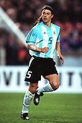 MATIAS ALMEYDA.ARGENTINA & LAZIO.STUTTGART, GERMANY.GERMANY V ARGENTINA.17/04/2002.FE63B24AC