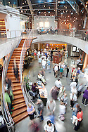 The view of the the Gerding Theater at the Armory on NW Eleventh Ave. in the Pearl District in Portland, Oregon.  Originally built in 1891, The Armory building was restored to house Portland Center Stage and has been designated as LEED Platinum by the U.S. Green Building Council.