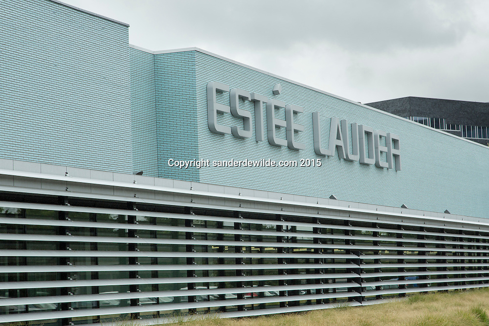 Oevel 27 July 2015 Exterior of the Estee Lauder Plant in Oevel, Flanders, Belgium.