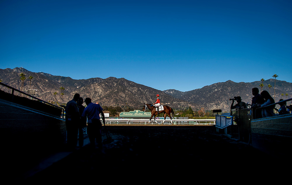 Opening Day at Santa Anita Park on Opening Day, December 26th, 2014 in Arcadia CA. (Alex Evers/ Eclipse Sportswire)