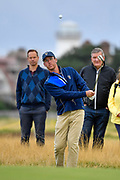 Andy Ogletree (USA) chips to the first green during the Saturday morning Foursomes in the Walker Cup at the Royal Liverpool Golf Club, Saturday, Sept 7, 2019, in Hoylake, United Kingdom. (Steve Flynn/Image of Sport)