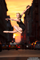 Manhattanhenge New York City- Dance As Art Photography Project featuring dancer, Alyssa Ness