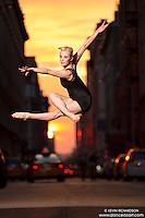 Manhattanhenge New York City- Dance As Art Photography Project featuring dancer, Alyssa Ness