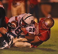 Lafayette High's Alec Michael (7) makes a tackle vs. Lewisburg in Homecoming football action in Oxford, Miss. on Friday, September 30, 2011. Lafayette High won 42-0 for the team's 23rd straight win.