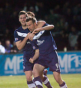 Ross County's Colin McMenamin celebrates his equaliser - Ross County v Dundee - Irn Bru Scottish Football League First Division at Victoria Park, Dingwall..- © David Young - .5 Foundry Place - .Monifieth - .DD5 4BB - .Telephone 07765 252616 - .email; davidyoungphoto@gmail.com - .web; www.davidyoungphoto.co.uk