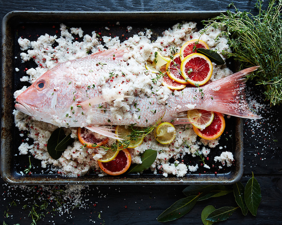 Salt-Encrusted Fish