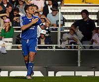 Photo: Daniel Hambury.<br />Fulham v Chelsea. The Barclays Premiership. 23/09/2006.<br />Chelsea's Frank Lampard celebrates his goal.0-1.