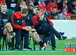ADELAIDE, AUSTRALIA - Monday, July 20, 2015: Liverpool's manager Brendan Rodgers during a preseason friendly match against Adelaide United at the Adelaide Oval on day eight of the club's preseason tour. (Pic by David Rawcliffe/Propaganda)