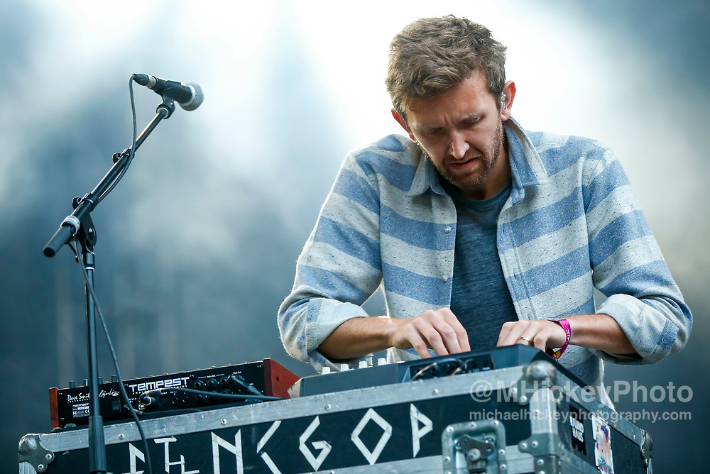 CHICAGO, IL - AUGUST 05: Nick Sanborn of Sylvan Esso performs at Grant Park on August 5, 2017 in Chicago, Illinois. (Photo by Michael Hickey/Getty Images) *** Local Caption *** Nick Sanborn