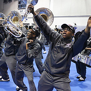 Members of the North Carolina Central University perform Saturday January 19, 2015 during the Historically Black College and University Experience at the Schwartz Center on the Campus of Cape Fear Community College in Wilmington, N.C. (Jason A. Frizzelle)