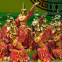 A traditional dance performance in the Hen his Khan theater, in the in Hoh-hoh, the capital of the Inner Mongolia Autonomous Region, in China. Aug-22-2006. Photo: Stringer