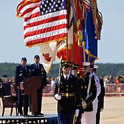 Color Guard: color and precision, even down to the shadows, are on display at the 2010 airshow at Andrews Air Base in Maryland just outside Washington, DC.