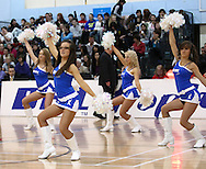 Guildford, England, Sunday 21st March 2010: BBL Babes entertain the crowd before the  BBL Trophy Final between Cheshire Jets and Newcastle Eagles at the Guildford Spectrum, Surrey, UK . Final score Cheshire 95-111 Newcastle. (photo by Andrew Tobin/SLIK images)
