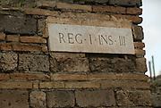 Street names in Pompeji, Italy