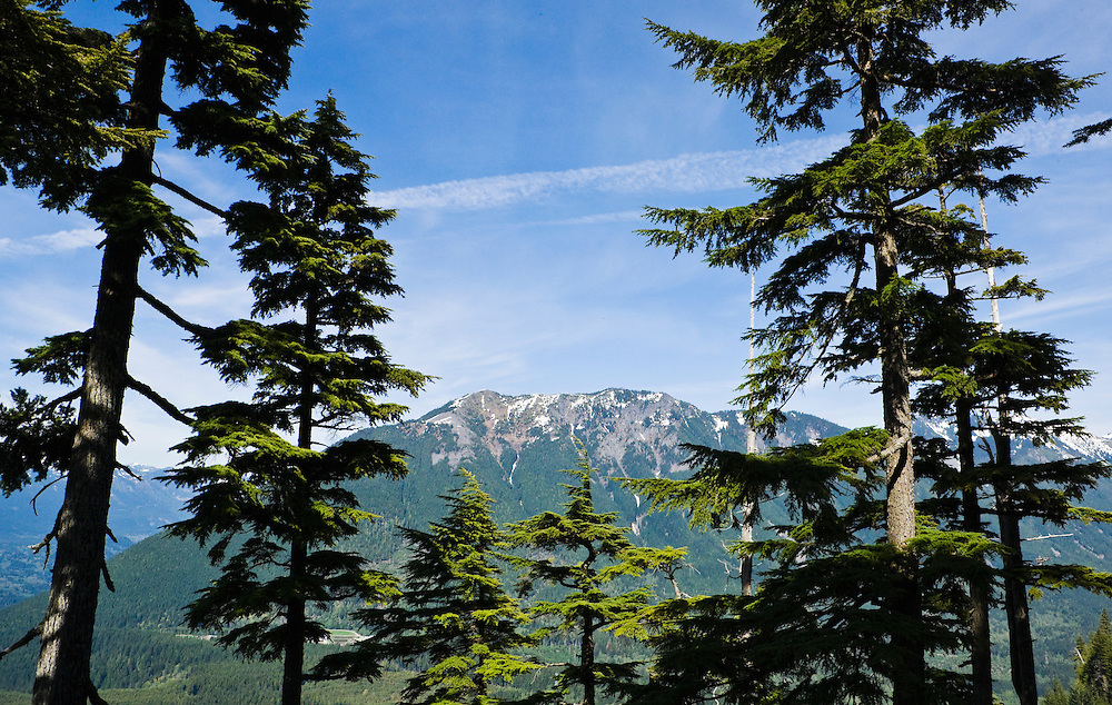 A view of Mailbox Peak from Mt Washington near Interstate 90 in the Washington Cascades range, USA.