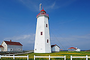 Miscou Island Lighthouse in the Gulf of St. Lawrence<br /> Miscou Island<br /> New Brunswick<br /> Canada