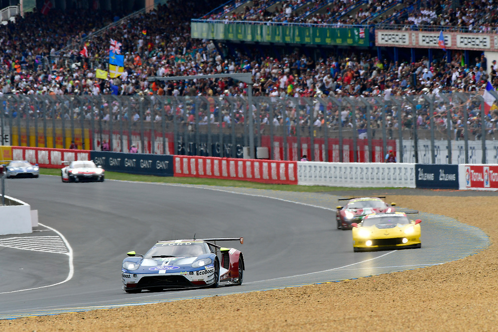#69 Ford Chip Ganassi Racing Ford GT: Ryan Briscoe, Richard Westbrook, Scott Dixon<br /> Saturday 16 June 2018<br /> 24 Hours of Le Mans<br /> 2018 24 Hours of Le Mans<br /> Circuit de la Sarthe  FR<br /> World Copyright: Scott R LePage