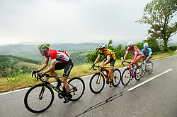 Luka Mezgec (SLO) of Mitchelton - Scott, Benjamin Hill (AUS) of Ljubljana Gusto Santic during 4th Stage of 26th Tour of Slovenia 2019 cycling race between Nova Gorica and Ajdovscina (153,9 km), on June 22, 2019 in Slovenia. Photo by Vid Ponikvar / Sportida
