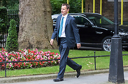 London, June 27th 2017. Health Secretary Jeremy Hunt attends the weekly UK cabinet meeting at 10 Downing Street in London.