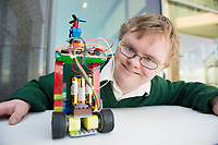 16/05/2017  Repro Free:  Niall Quinn from ST Gerard's Castlebar with &quot;SUPERMAN&quot; his mini sumo robot at The EA Robot Games Ireland competition saw 550 students, from 25 schools across the country, battling 184 robots for the ultimate prize. The competition is sponsored by EA Games &amp; Bank of Ireland and run by Colmac Robotics. <br /> <br /> Ethan Dolan from Villiers of Limerick, retained the title that the the school  claimed last year of Mini Sumo Robot Champion 2017 at the Radisson Blu Hotel in Galway.<br />  Photo:Andrew Downes, xposure