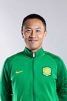 Portrait of Chinese soccer player Zhang Chiming of Beijing Sinobo Guoan F.C. for the 2017 Chinese Football Association Super League, in Benahavis, Marbella, Spain, 18 February 2017.
