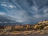Interstate 70 and US highway US 50,  Pass Eagle Canyon in the San Rafael Swell of Green River, Utah panorama
