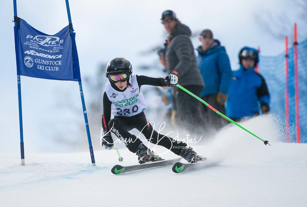 Gus Pitou U14 boys 2107 Gunstock Ski Club.  ©2017 Karen Bobotas Photographer