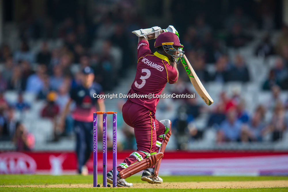London,UK. 27 September 2017. Jason Mohammed batting for the West Indies. England v West Indies. In the fourth Royal London One Day International at the Kia Oval.