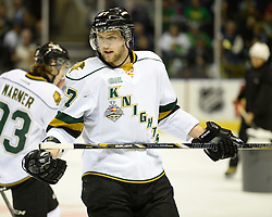 Action from Game 3 at the 2014 MasterCard Memorial Cup in London, ON on Sunday May 18, 2014. The Edmonton Oil Kings defeated the London Knights 5-2. Photo by Aaron Bell/CHL Images