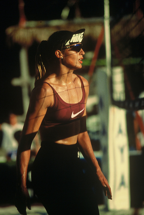 4-Women Professional Beach Volleyball - Houston, TX - 1995 - Gabrielle Reece - Photo by Wally Nell/Volleyball Magazine