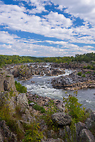 The Potomac River at Great Falls near Washington D.C., USA.