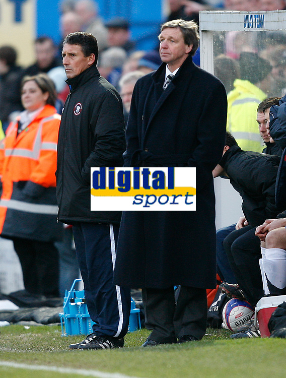 Photo: Steve Bond/Sportsbeat Images.<br />Macclesfield Town v Hereford United. Coca Cola League 2. 26/12/2007. hereford manager Graham Turner looks on