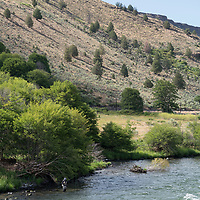 Fishing on the Deschutes River in Maupin, Oregon