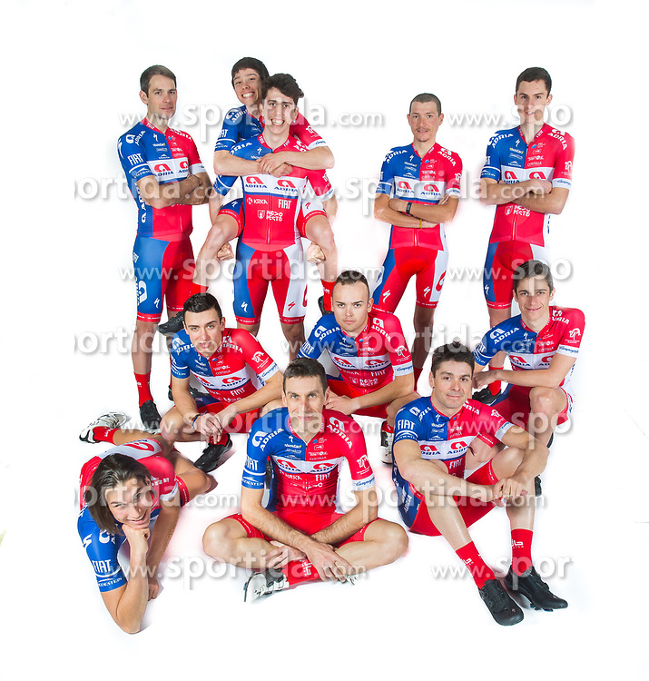 Group photo during photo session of Cycling Team KK Adria Mobil, on January 22, 2018 in Novo Mesto, Novo Mesto, Slovenia. Photo by Vid Ponikvar / Sportida