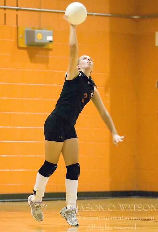 The Charlottesville High School Black Knights varsity volleyball team faced Monticello High School Mustangs at Charlottesville HS  in Charlottesville, VA on October 2, 2007.
