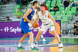 Gasper Vidmar of Slovenia during qualifying match between Slovenia and Kosovo for European basketball championship 2017,  Arena Stozice, Ljubljana on 31th August, Slovenia. Photo by Grega Valancic / Sportida